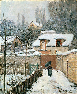 Snow At Louveciennes Painting - Snow At Louveciennes by Alfred Sisley