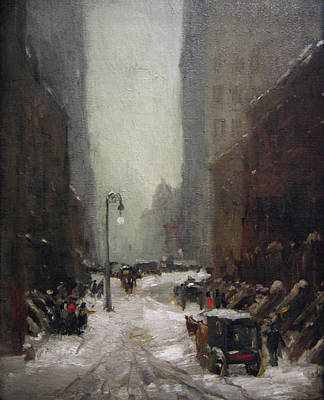 New York Painter Painting - Snow In New York by Robert Henri