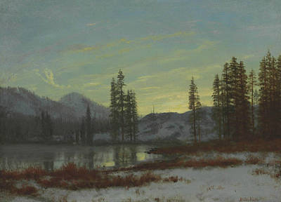 Snow In The Rockies Art Print by Albert Bierstadt