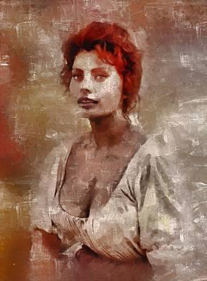 Sophia Loren Hollywood Actress Art Print by Mary Bassett