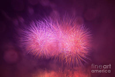 Spectacular Photograph - Spectacular Fireworks Show Light Up The Sky. New Year Celebration. by Michal Bednarek