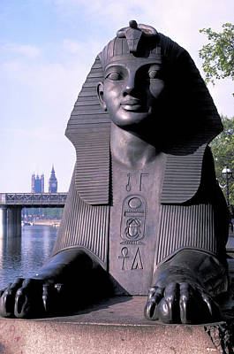 Photograph - Sphinx On Embankment In London by Carl Purcell