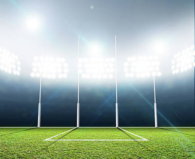 Sports Stadium And Goal Posts Art Print
