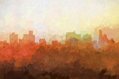 Digital Art - Springfield Illinois Skyline by Marlene Watson