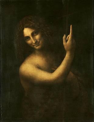 Painting - St. John The Baptist by Leonardo Da Vinci