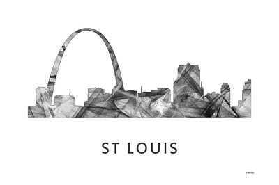 Tag Digital Art - St Louis Missouri Skyline by Marlene Watson