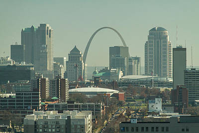 Photograph - St Louis Skyline And Arch by Garry McMichael