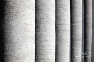 Photograph - St. Peter's Basilica Colonnades, Columns In Vatican City by Michal Bednarek