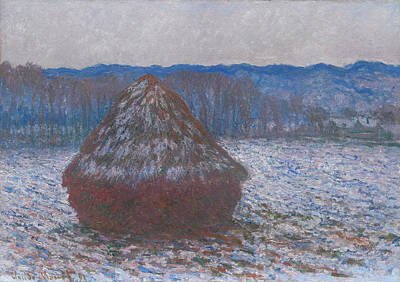 Grain Painting - Stack Of Wheat by Claude Monet