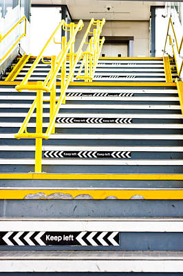 Stair-rail Photograph - Stairs by Tom Gowanlock