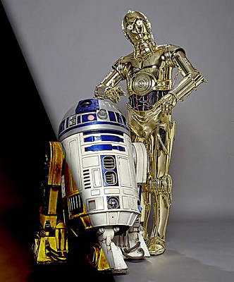 Galactic Mixed Media - Star Wars C3po And R2d2 Collection by Marvin Blaine