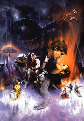 Star Wars Episode V - The Empire Strikes Back 1980 Art Print