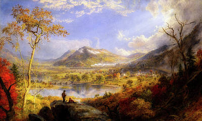 Painting - Starrucca Viaduct, Pennsylvania by Jasper Francis Cropsey