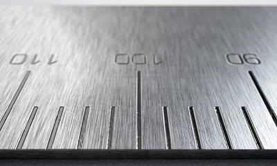 Numbers Digital Art - Steel Ruler Closeup by Allan Swart