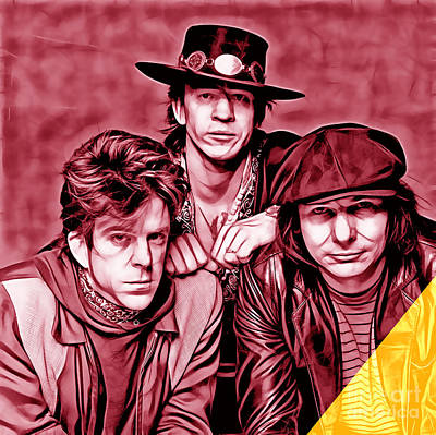 Rock Art Mixed Media - Stevie Ray Vaughan And Double Trouble Collection by Marvin Blaine