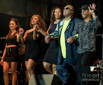Stanley Watts Photograph - Stevie Wonder And Band by David Oppenheimer