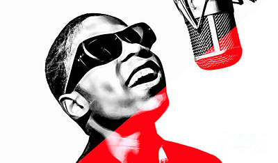 Stevie Wonder Collection Art Print by Marvin Blaine