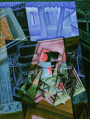Painting - Still Life Before An Open Window, Place Ravignan by Juan Gris