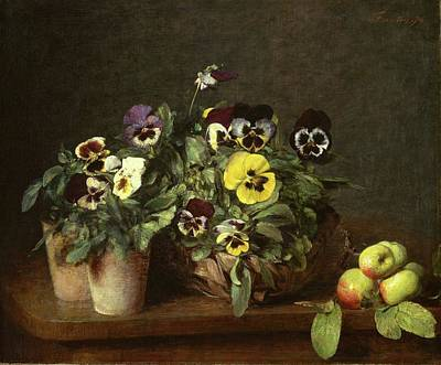 Painting - Still Life With Pansies by Henri Fantin-Latou