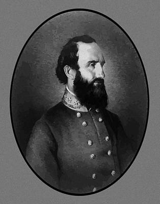 Stonewall Painting - Stonewall Jackson by War Is Hell Store