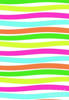 Stripes Art Print by Louisa Knight