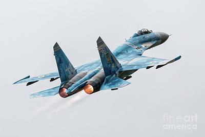 Sukhoi Digital Art - Su-27 Flanker by J Biggadike