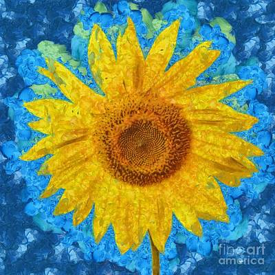 Sunflowers Digital Art - Sunflower by Edward Fielding
