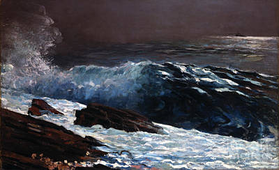 Waves Painting - Sunlight On The Coast by Celestial Images
