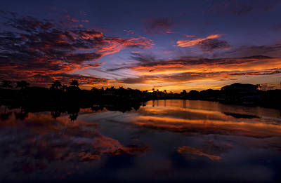 Photograph - Sunrise At Naples, Florida by Peter Lakomy