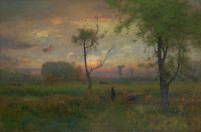 Aurora Painting - Sunrise by George Inness