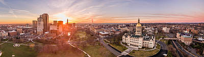 Photograph - Sunrise In Hartford, Connecticut by Petr Hejl