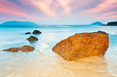 Ocean Landscape Photograph - Sunrise by MotHaiBaPhoto Prints