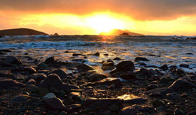 Photograph - Sunset Blasket Islands by Barbara Walsh