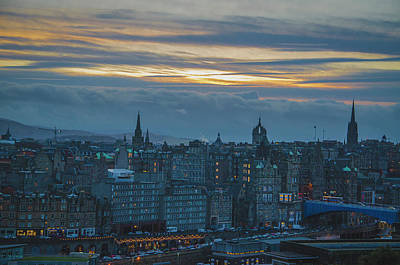 Photograph - Sunset Over Edinburgh by Edyta K Photography