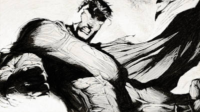 Superman Digital Art - Superman Drawing by Egor Vysockiy