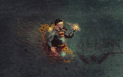 Animal Digital Art - Superman by Super Lovely