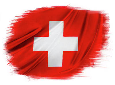Photograph - Swiss Flag by Les Cunliffe