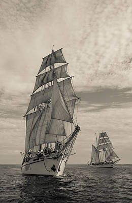 Photograph - Twin Tall Ships by Cliff Wassmann