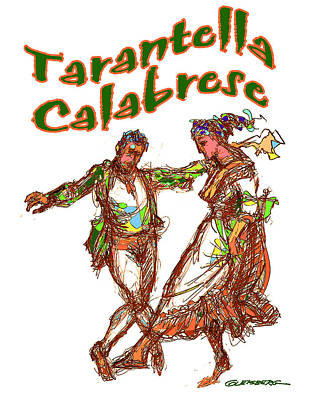 Computer Art Mixed Media - Tarantella Calabrese by Dean Gleisberg