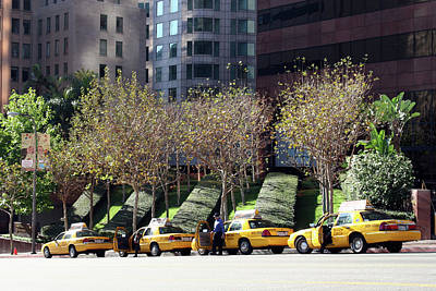 4 Taxis In The City Art Print