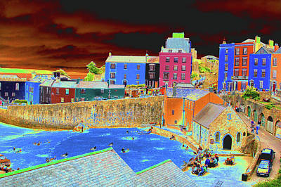 Photograph -  $350 - 20x30 Canvas - Tenby Village by Tam Ryan