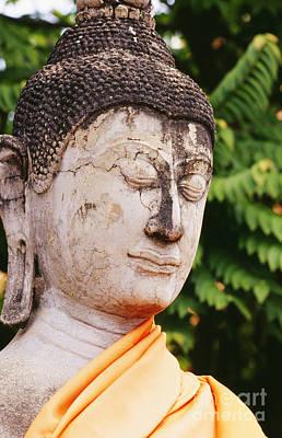 Handcarved Photograph - Thailand, Ayathaya by Bill Brennan - Printscapes