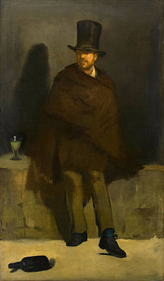 Alcoholic Painting - The Absinthe Drinker by Edouard Manet