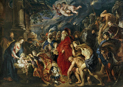 Adoration Painting - The Adoration Of The Magi by Peter Paul Rubens