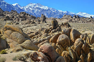 Photograph - The Alabama Hills Of California by Ray Mathis