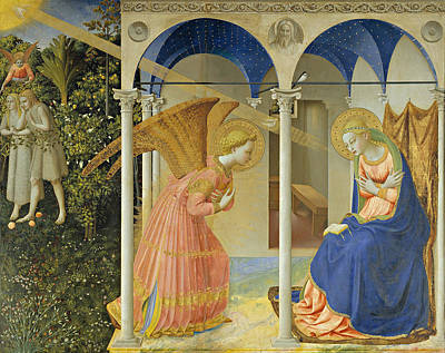 Gabriel Painting - The Annunciation by Fra Angelico