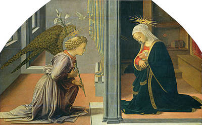 Painting - The Annunciation by Fra Filippo Lippi