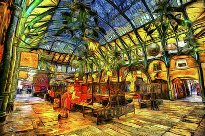 Mixed Media - The Apple Market Covent Garden London Art by David Pyatt