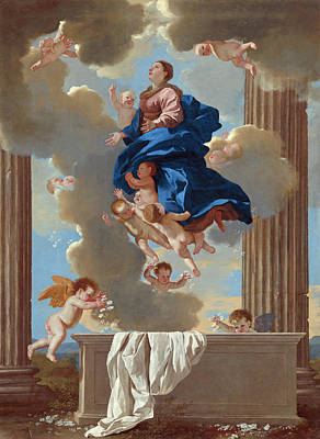 Painting - The Assumption Of The Virgin by Nicolas Poussin