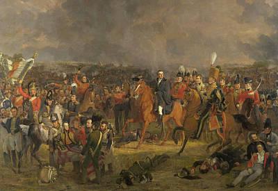 Painting - The Battle Of Waterloo by Jan Willem Pieneman